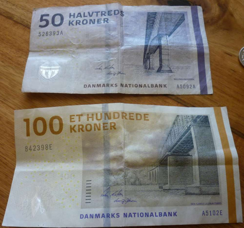 The new Danish notes 50 kr and 100 kr