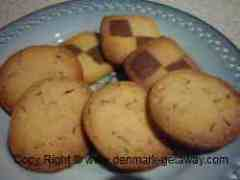 Danish Butter Cookies on a plate.