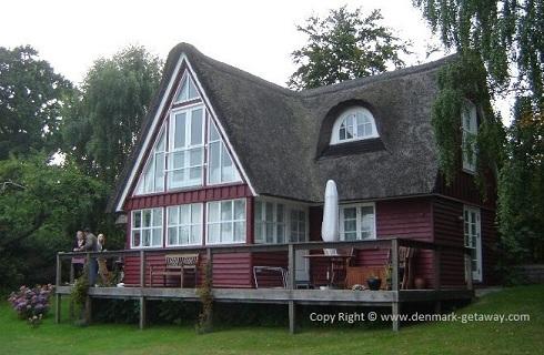 Holiday house at Kelstrup Beach.