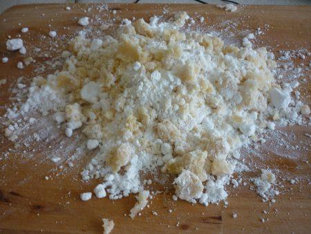 Mixing Marzipan.