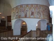 Round Church on Bornholm island, Inside