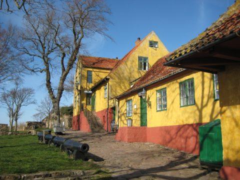 Christians island's Inn and kiosk.