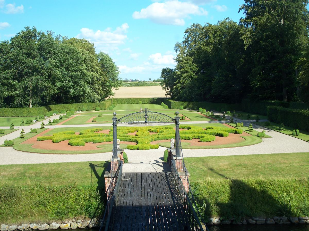 The garden at Egeskov Castle.
