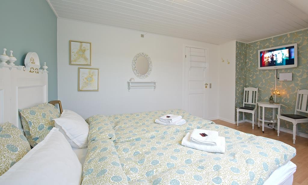 The Double room at Myregaard Bed and Breakfast on Bornholm.
