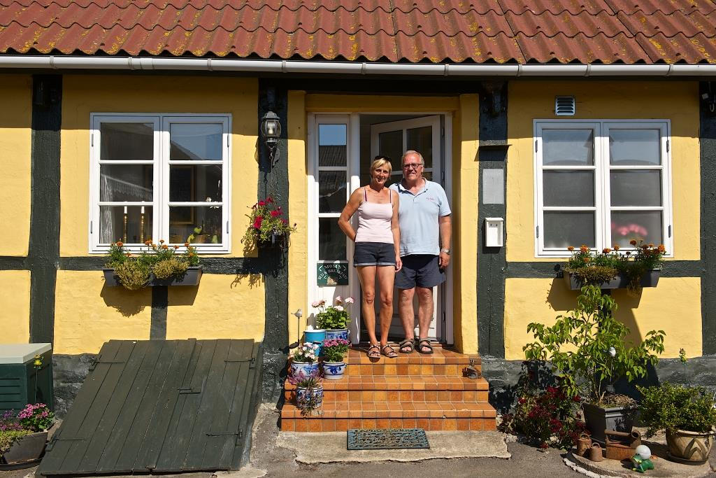 Jytte & Thomas, Myregaard Bed and Breakfast on Bornholm.
