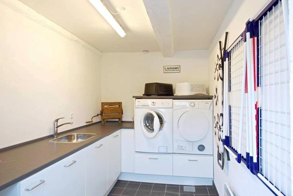 The laundry at myregaard B & B.