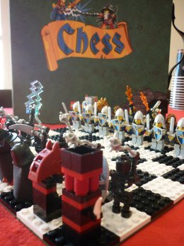 Lego Chess board game.