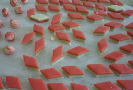 Marzipan drying out.