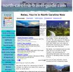 North Carolina travel guide's website.