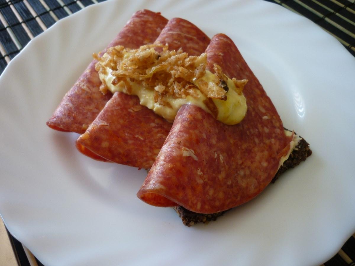 Homemade Danish Remulade and Mayonnaise.