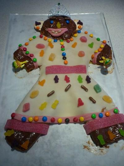 Danish kids Birthday Cake, Cake man. (Kagemand)