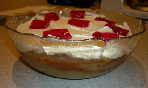 Danish Apple Cake with Cream.
