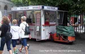 A Traditional Danish Hotdog Van.