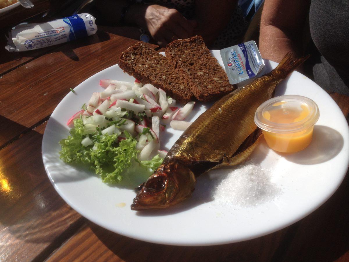 Smoked mackerel from the smokehouse.
