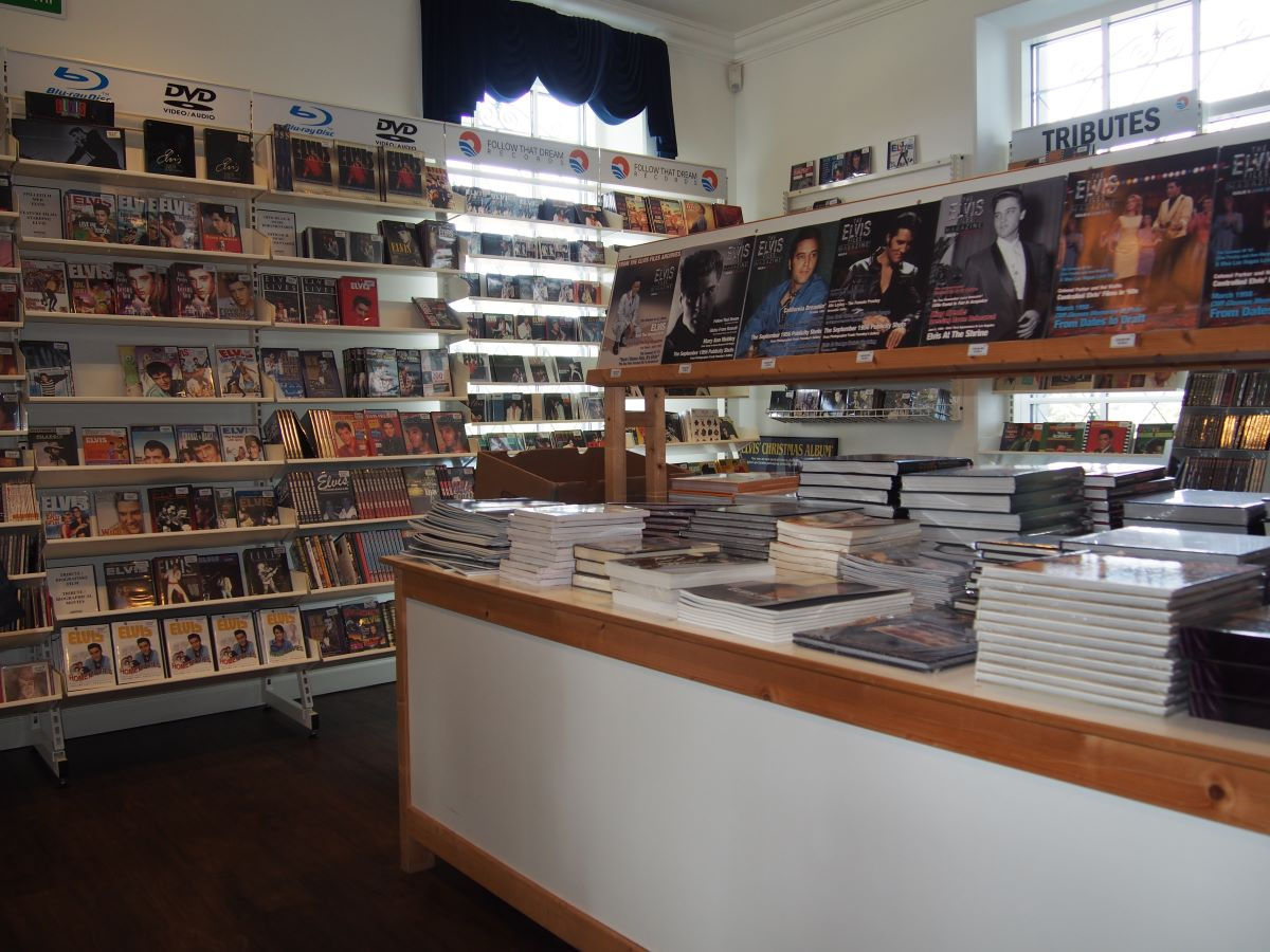 The museum shop at The Memphis Mansion.