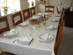 Table Ready For Danish Smorgasbord.