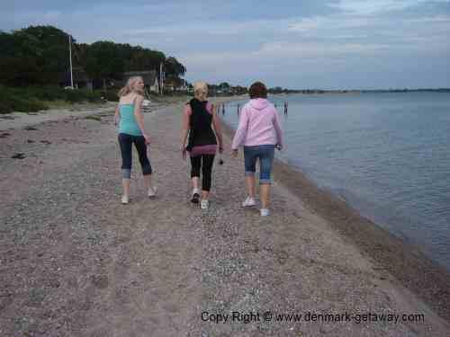 Evening walk at the beach.