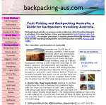 Backpacking aus website
