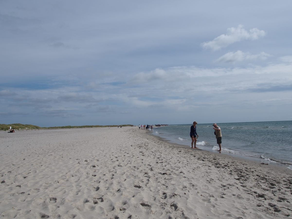 Grenen north of Skagen, The North Sea And Kattegat Sea meet up.