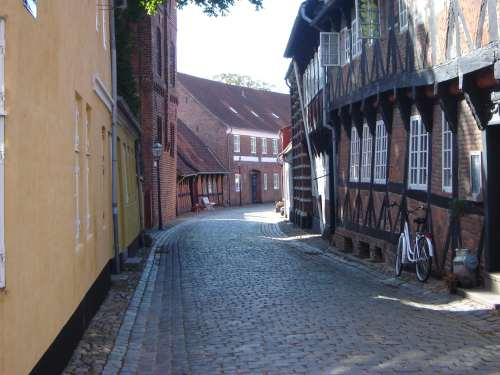 Ribe, old town in Denmark.
