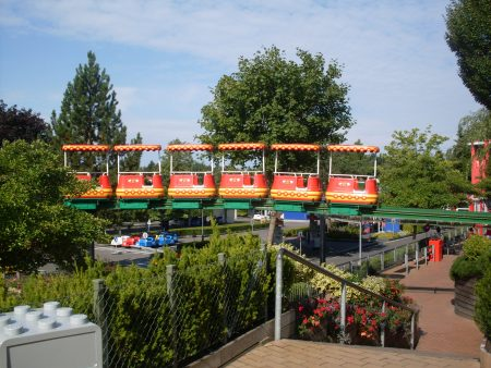 Rides at legoland Billund, Denmark.