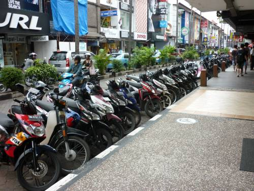 Scooters on Bali.