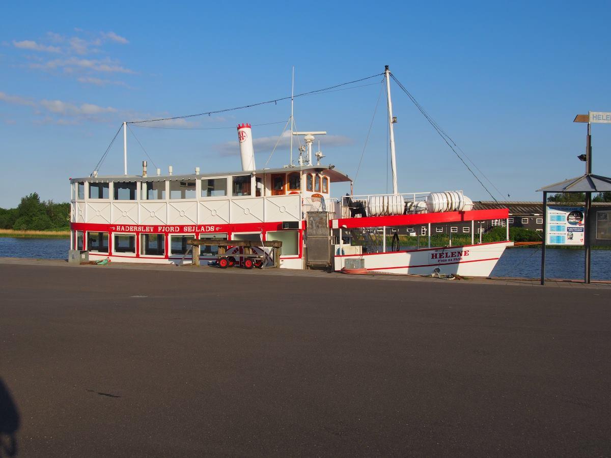 The ferry Helene. In Haderslev harbor.