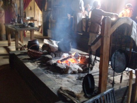 Viking kitchen. At Ribe Viking Center.